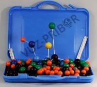 Комплект моделей атомов для составления молекул