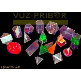 Набор прозрачных геометрических тел