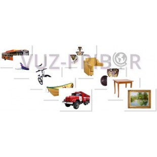 """Набор предметных картинок """"Транспорт. Мебель, предметы интерьера"""""""