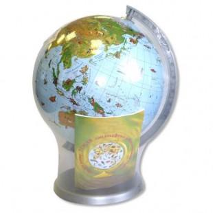 Глобус зоологический с книжкой d220