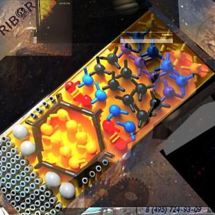Набор моделей атомов для моделирования неорганических молекул